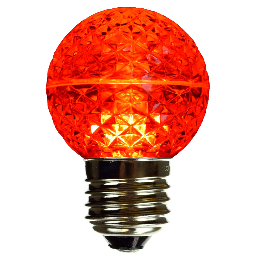 Red Led Globe Light Bulb