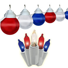 Red, White & Blue String Lights