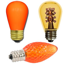 Yellow/Orange Light Bulbs