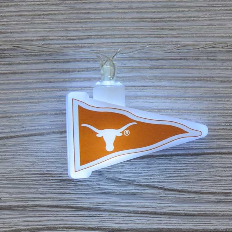 NCAA Texas Longhorns LED Pennant Lights - Battery Operated