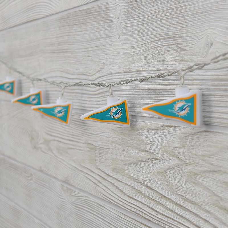 NFL Miami Dolphins LED Pennant Lights - Battery Operated