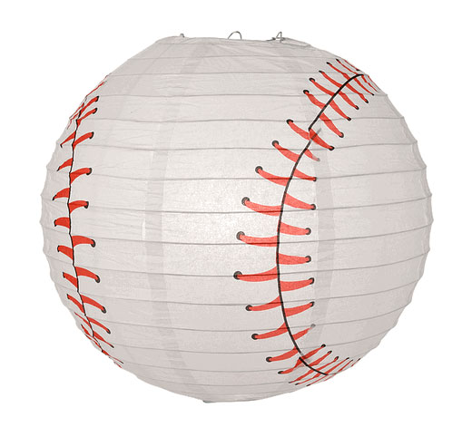 Baseball Shaped Paper Lantern