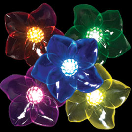 8 Battery Operated Acrylic Flower Light Set