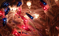 Red White & Blue Chasing Party String Lights - BS-54100