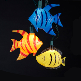Tropical Fish String Lights - Oogalights.com - More Than 1,000 Party & String Light Bulbs!