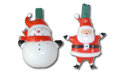 Whimsical Santa & Snowman Party Light String - AI-9570