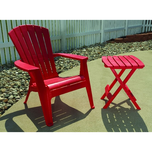 Quik Fold Cherry Red Patio End Table