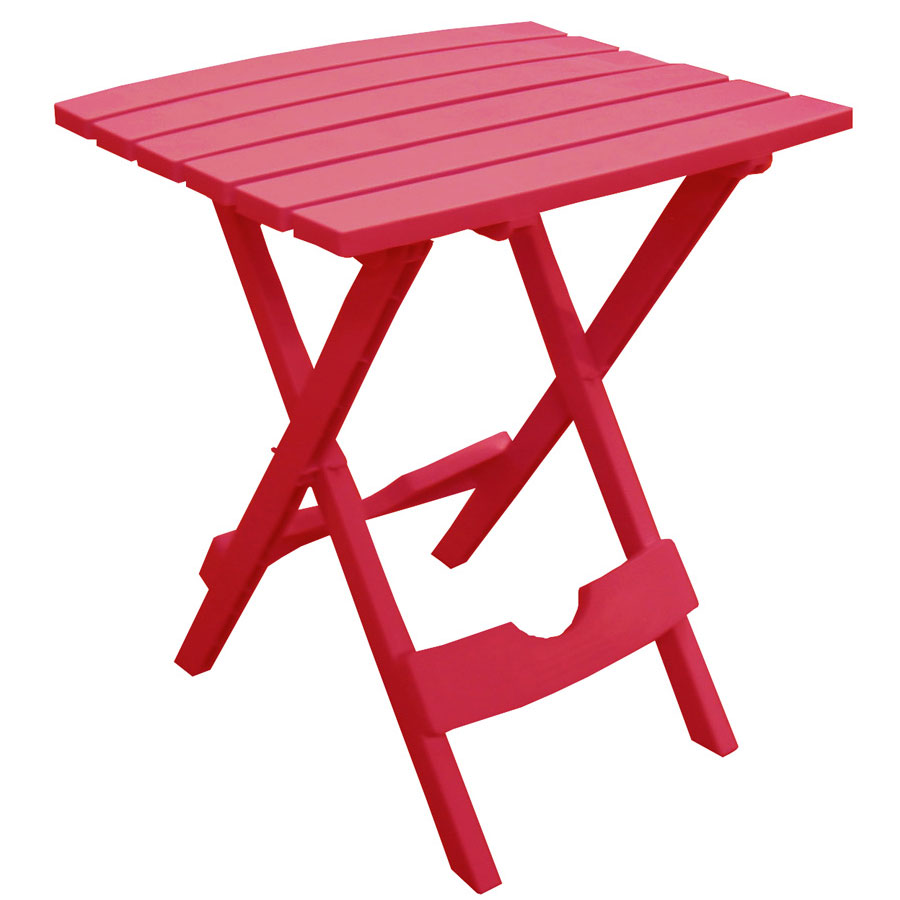 Quik-Fold Cherry Red Patio Side Table