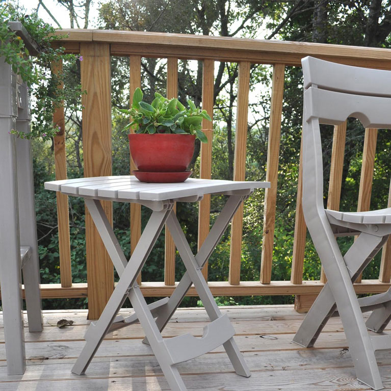 Quik-Fold Folding Patio Table, Desert Clay