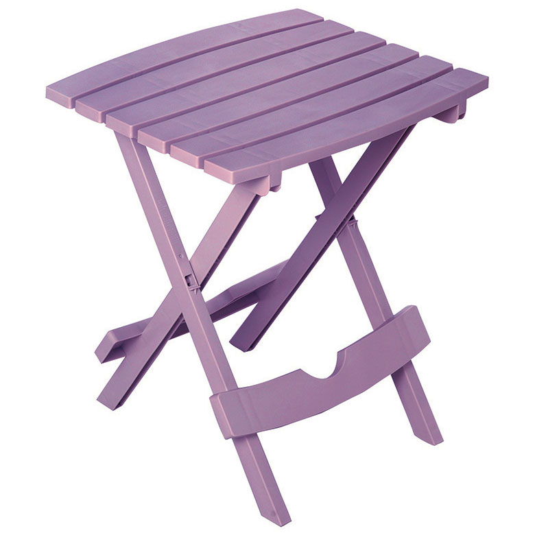 Quik-Fold Violet Patio End Table