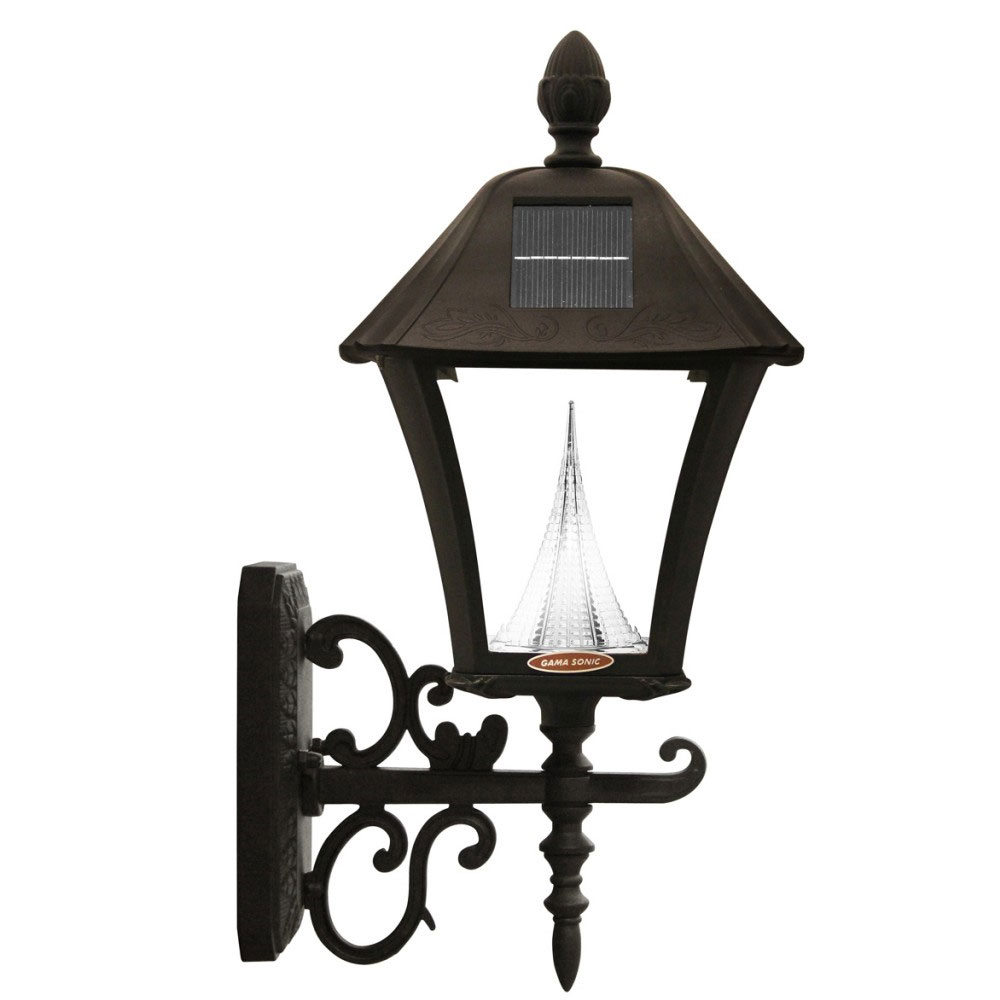 Baytown LED Solar Lamp Light, 3 Mount - Black