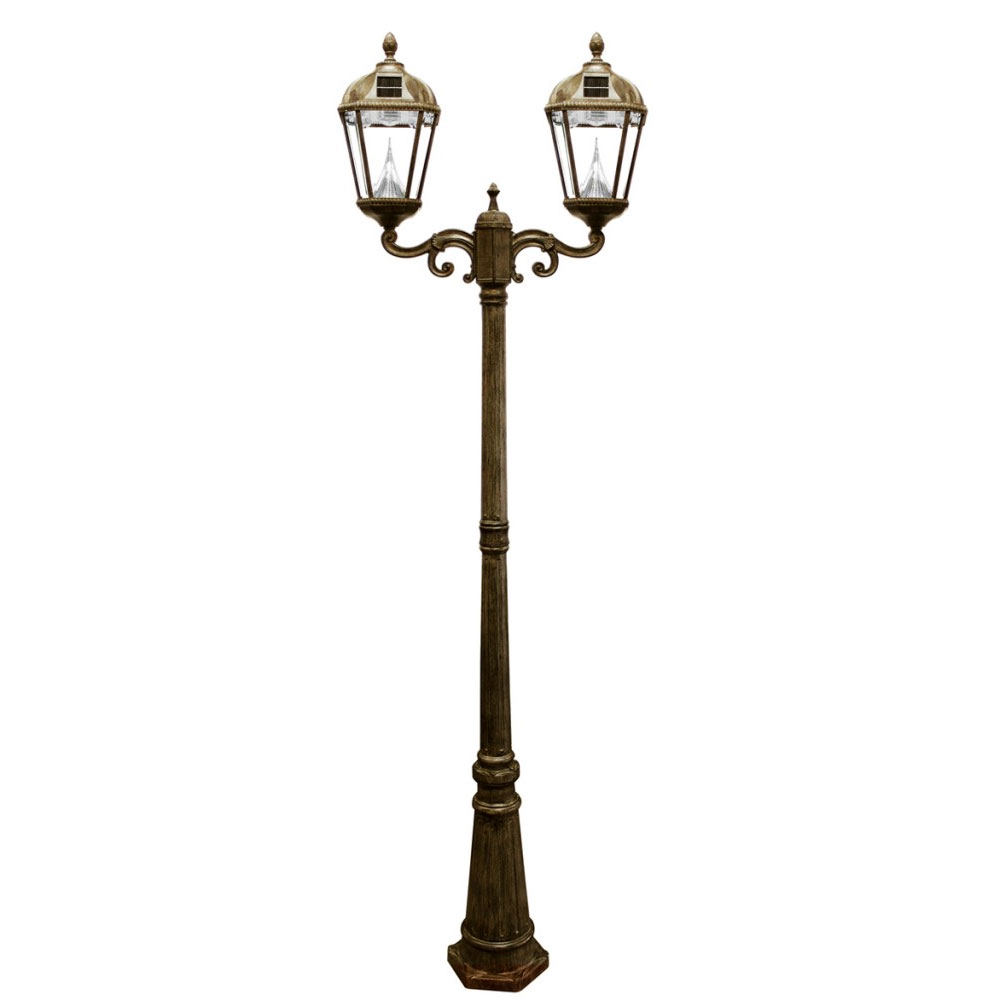 Royal Double Lamp Post Solar Light
