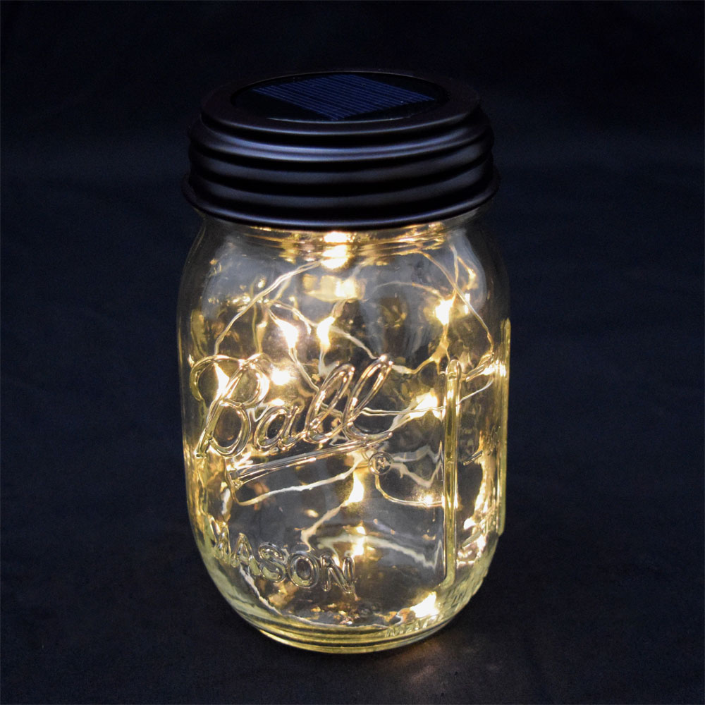 Fairy lights led mason jar lid solar powered workwithnaturefo