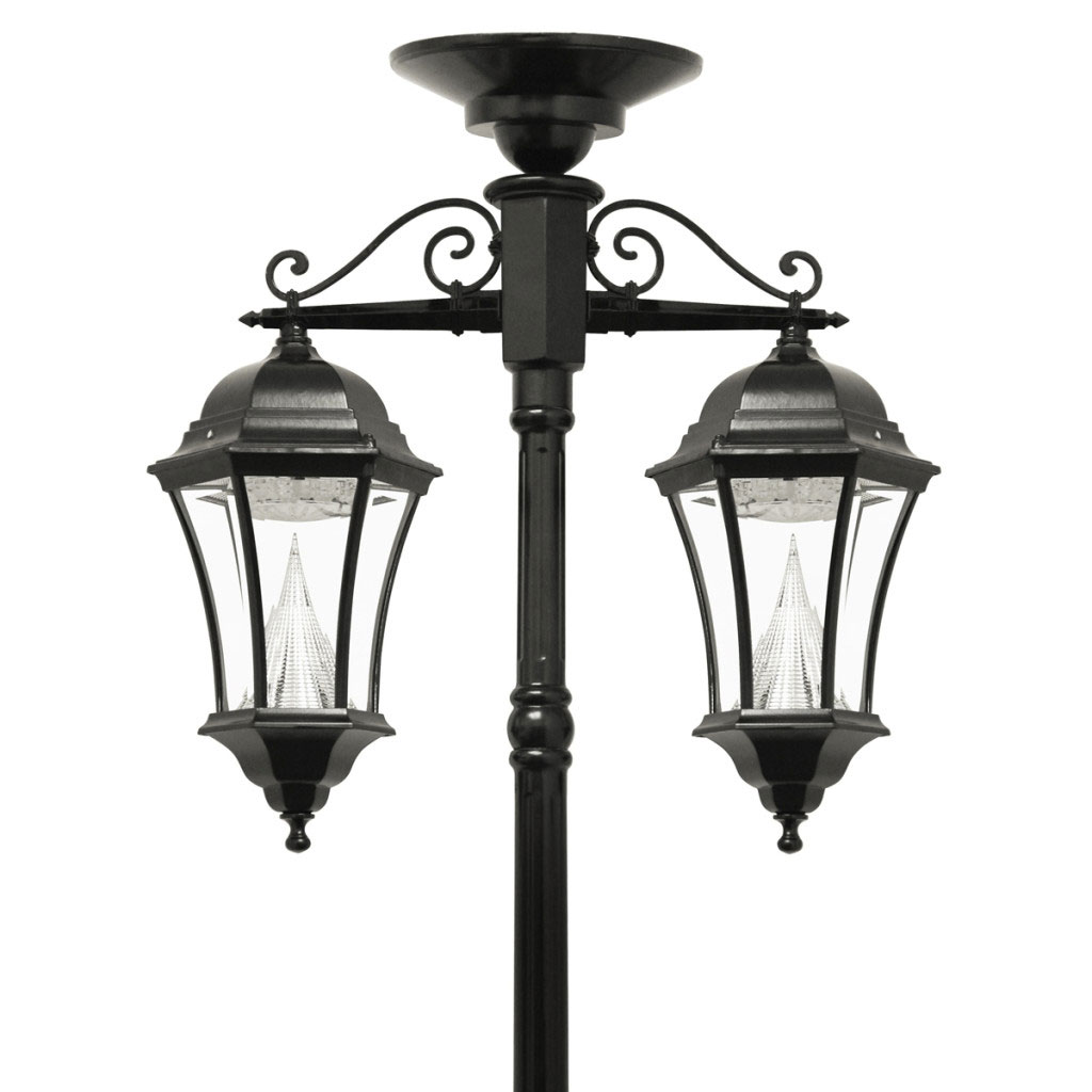 Victorian Solar Double Hanging Lamp Post