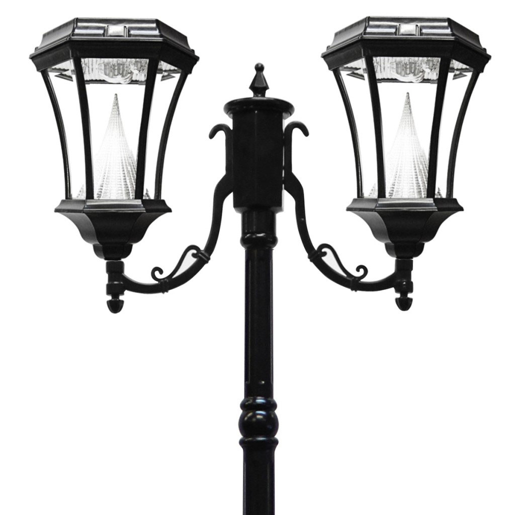 Victorian Solar LED Double Lamp Post