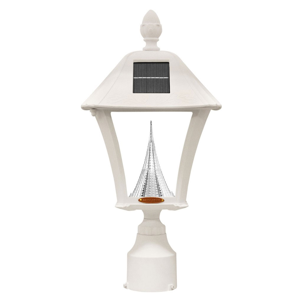Baytown LED Solar Lamp Light, 3 Mount - White