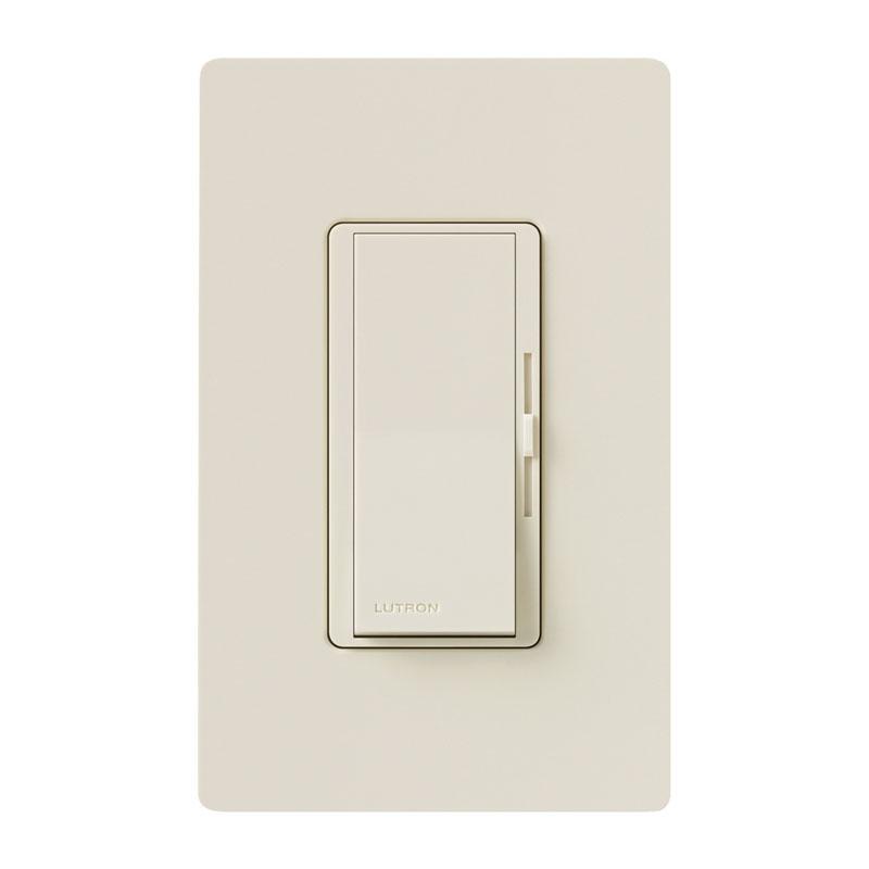lutron diva led cfl slide dimmer switch light almond. Black Bedroom Furniture Sets. Home Design Ideas