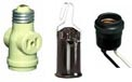 Light Bulb Sockets, Outlet Adapters, Pin Type Sockets & Lamp Parts - String Light Accessories & Tools