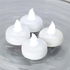 led floating tea light set 4 white led candles