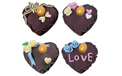 Hearts Battery Operated LED Tea Light Flickering Flameless Candle Set - 4 Pack - 36334