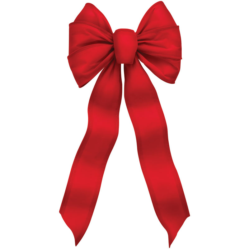 7-Loop Red Velvet Wire Christmas Bows - 10