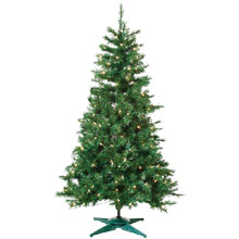 Pre-lit Artificial Colorado Spruce Tree - 4'