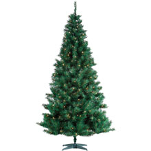 Pre-Lit Artificial Spencer Pine Christmas Holiday Tree - 6.5'