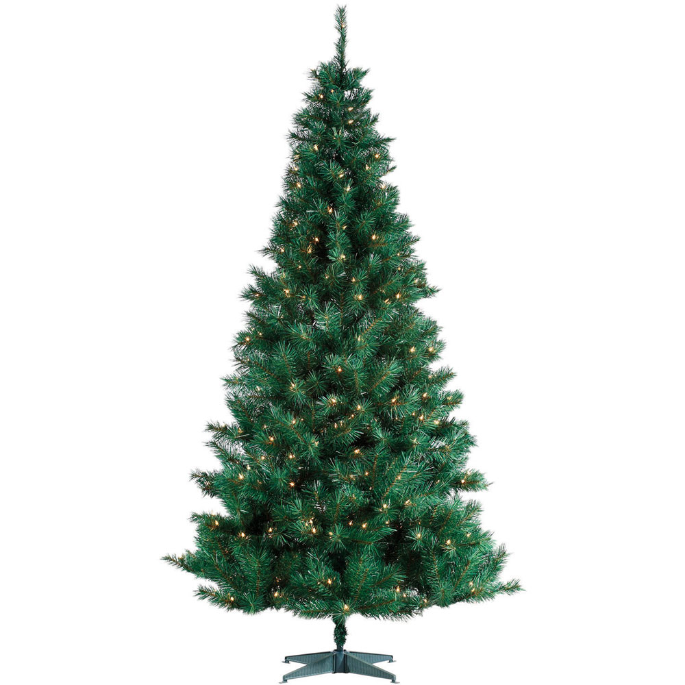 Pre lit artificial spencer pine christmas holiday tree 6 5