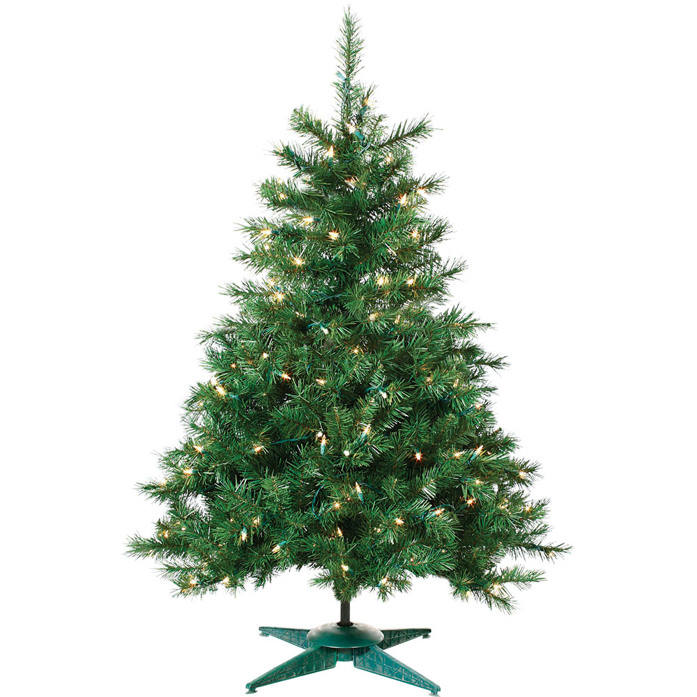 2' Pre-Lit Colorado Spruce Christmas Tree