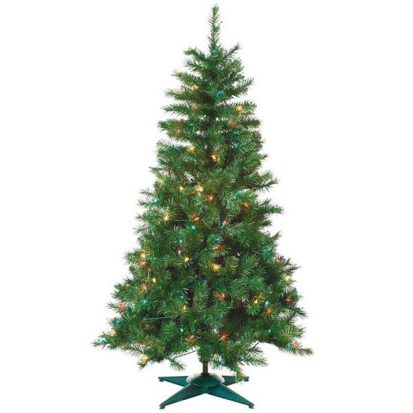 4' Pre-Lit Colorado Spruce Artificial Tree