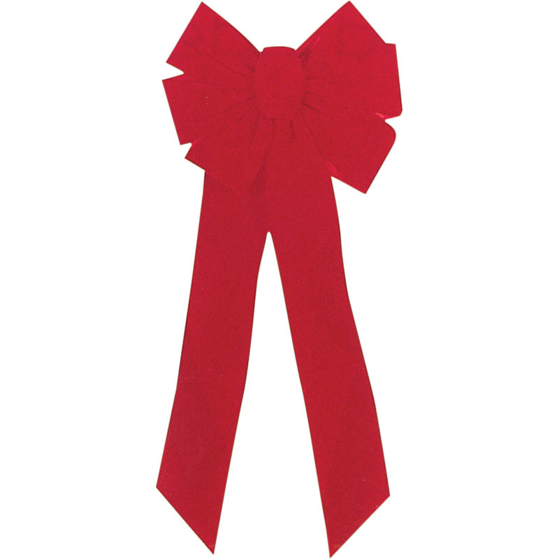 7-Loop Red Velvet Christmas Bow - 10