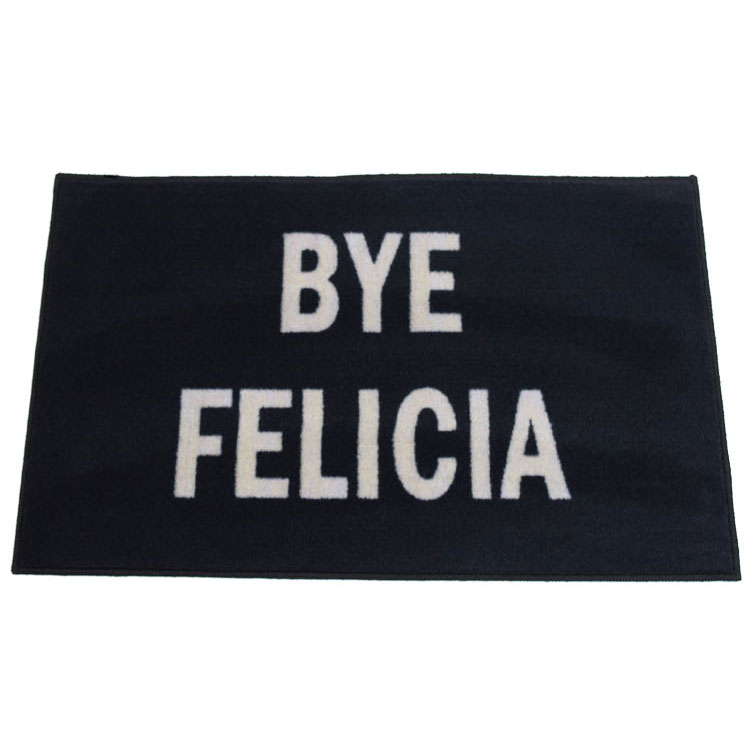 Bye Felicia Black Novelty Door Mat