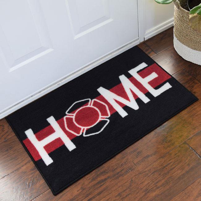 firefighter support welcome door mat