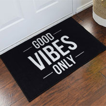 Good Vibes Only Personalized Door Mat
