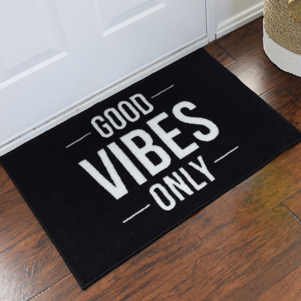 Good Vibes Only Indoor Novelty Mat