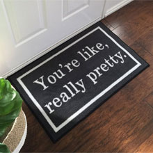 Mean Girls You're Like Really Pretty Novelty Floor Mat - Grey
