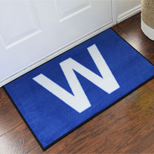 Chicago Cubs Win Flag Novelty Welcome Mat