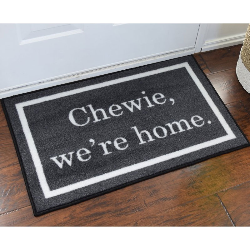 Chewie we 39 re home star wars novelty door mat - Novelty welcome mats ...