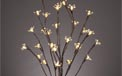 "LED Lighted Branches - (1) 39"" Brown Branch w/ Peach Blossoms - Battery Operated - 30 Warm White LED Lights"