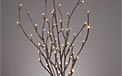 "LED Lighted Branches - (2) 39"" Brown Branches - Battery Operated - 60 Warm White LED Lights"