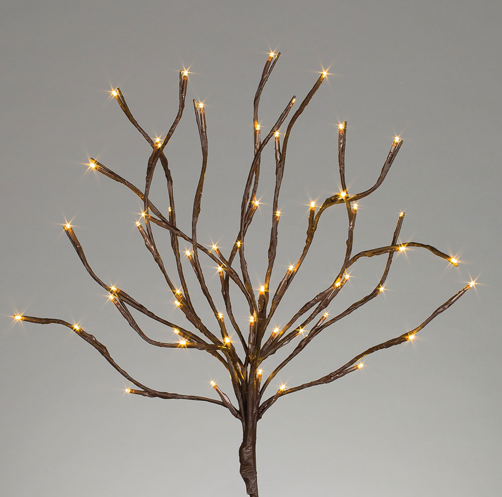 20 quot brown lighted branch 60 warm white led lights