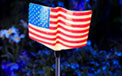 MOONRAYS Solar LED American Flag Stake Light - MR-92237