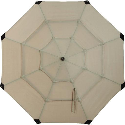 3 Tier Dark Wood Patio Umbrella