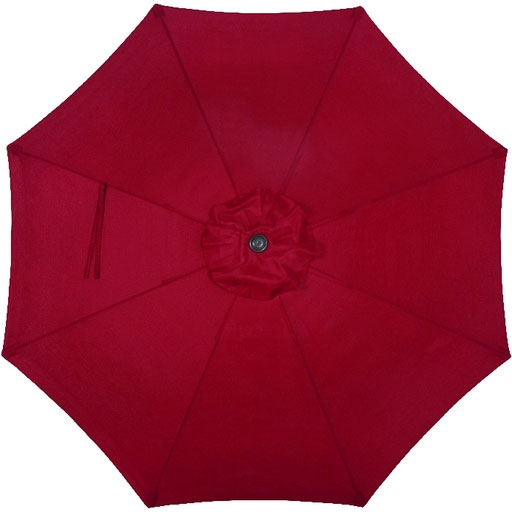 9' Burgundy Tilt Patio Umbrella, Crank Lift