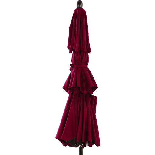 9' Three-Tier Patio Umbrella, Burgundy