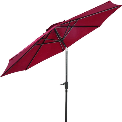 9' Burgundy Tilt Patio Umbrella
