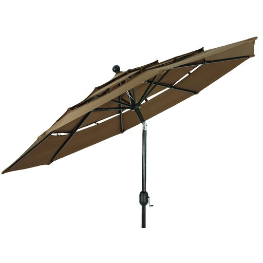 3 Tier Dark Brown Patio Umbrella