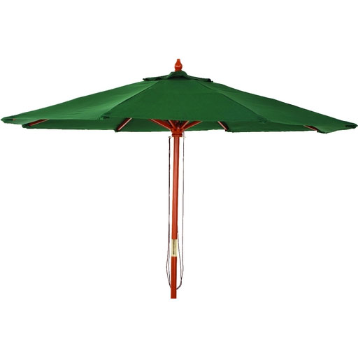 9' Market Green Pulley Patio Umbrella