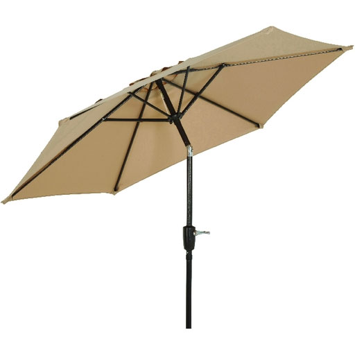 7.5u0027 Tan Canopy Tilt Patio Umbrella