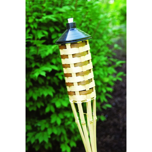 5' Tall Bamboo Patio Torch - 12 Pack